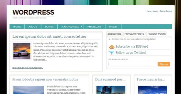 Шаблон Wordpress - Urbane
