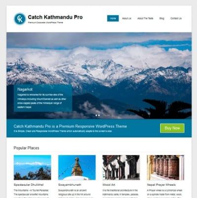 Шаблон WordPress - Catch Kathmandu