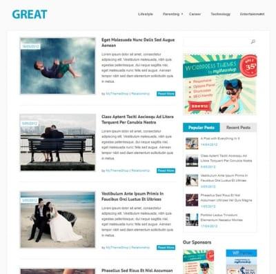Шаблон WordPress - Great