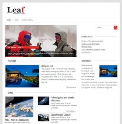 Шаблон WordPress - Leaf