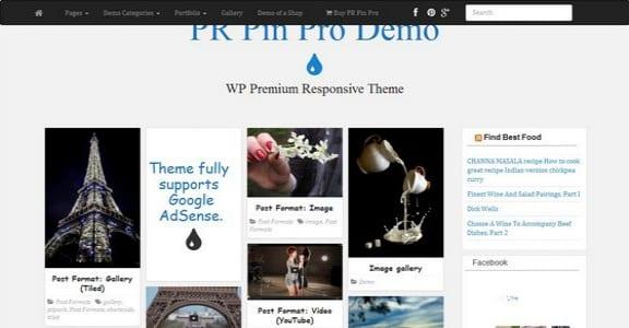Шаблон Wordpress - PR Pin
