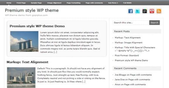 Шаблон Wordpress - Premium Style