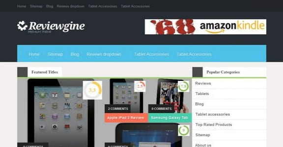 Шаблон Wordpress - Reviewgine Affiliate