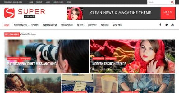 Шаблон Wordpress - SuperNews