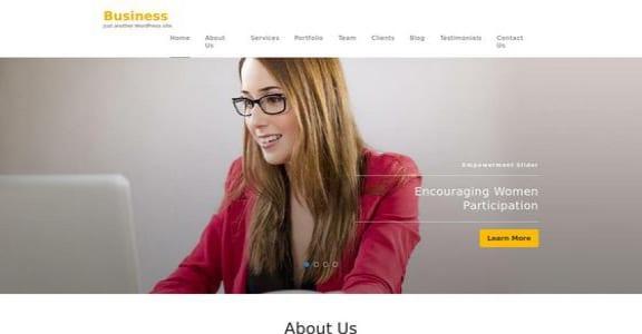 Шаблон Wordpress - Business One Page
