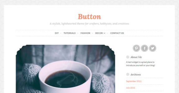Шаблон Wordpress - Button
