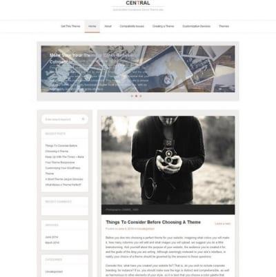 Шаблон WordPress - Central