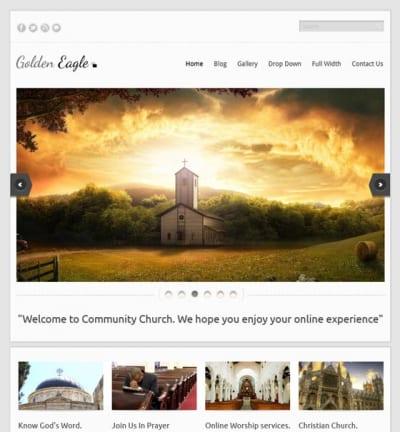 Шаблон WordPress - Golden Eagle Lite