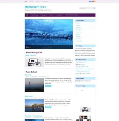 Шаблон WordPress - Midnight City