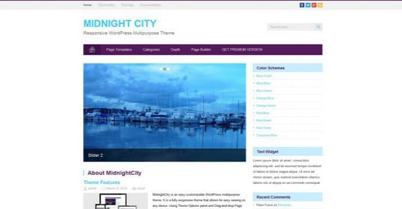 Шаблон Wordpress - Midnight City