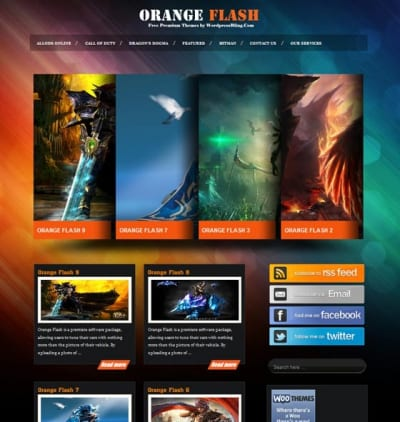 Шаблон WordPress - Orange Flash