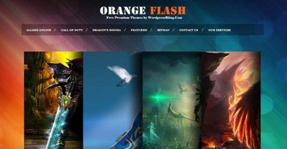 Шаблон Wordpress - Orange Flash