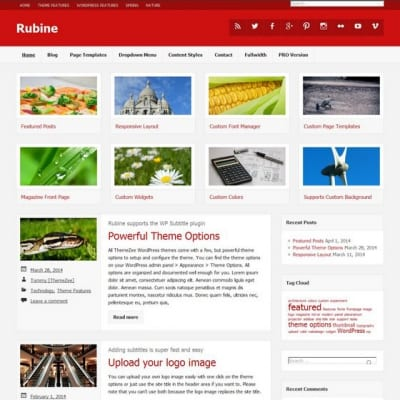 Шаблон WordPress - Rubine Lite