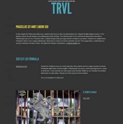 Шаблон WordPress - Trvl