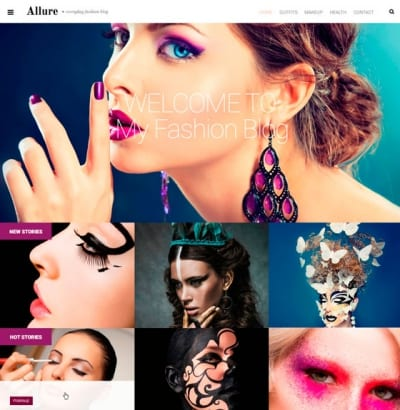 Шаблон WordPress - Allure