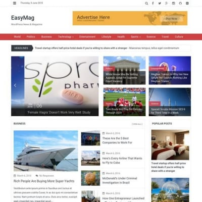 Шаблон WordPress - EasyMag