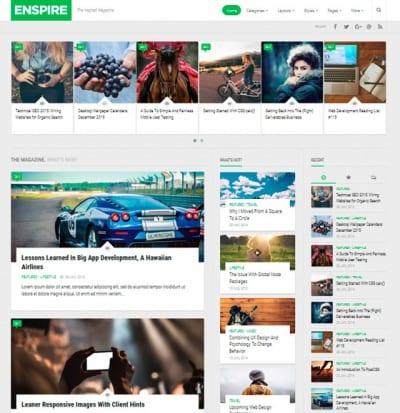 Шаблон WordPress - Enspire