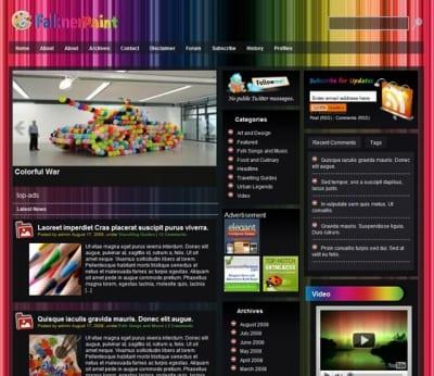 Шаблон WordPress - Falkner Paint