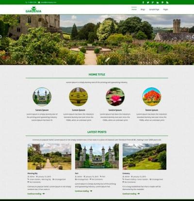 Шаблон WordPress - Gardenia