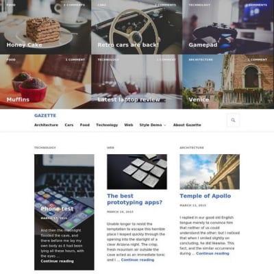Шаблон WordPress - Gazette