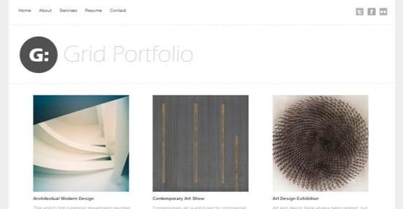 Шаблон Wordpress - Grid Portfolio