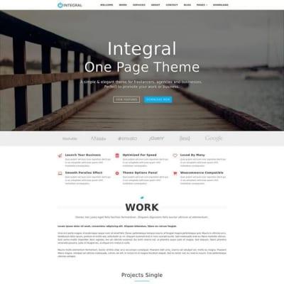 Шаблон WordPress - Integral