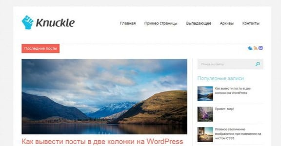 Шаблон Wordpress - Knuckle