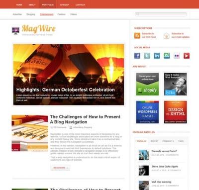 Шаблон WordPress - MagWire