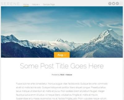 Шаблон WordPress - Serene