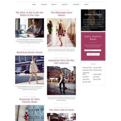 Шаблон WordPress - Silk Lite
