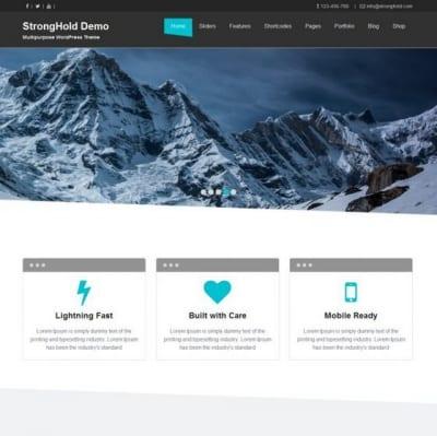 Шаблон WordPress - StrongHold