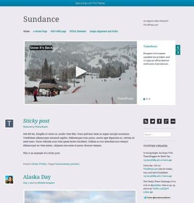 Шаблон WordPress - Sundance