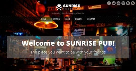 Шаблон Wordpress - Sunrise
