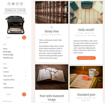 Шаблон WordPress - Verbosa