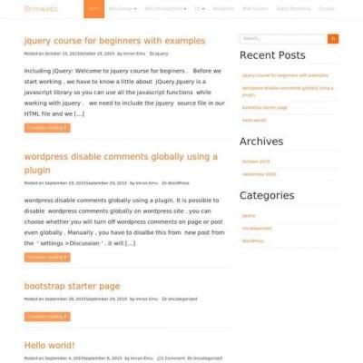 Шаблон WordPress - Bootcake