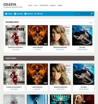 Шаблон WordPress - Celesta