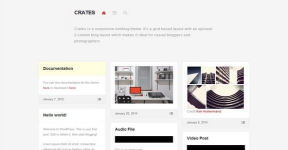 Шаблон Wordpress - Crates