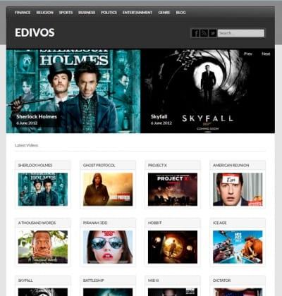 Шаблон WordPress - Edivos