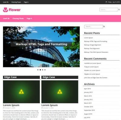 Шаблон WordPress - Flower