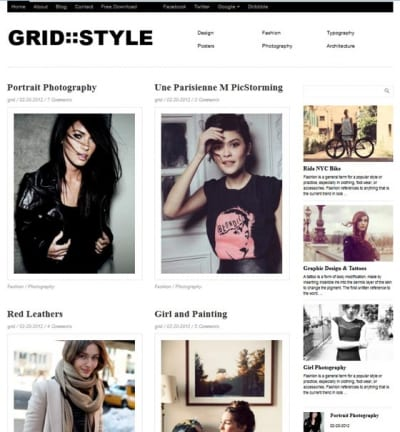 Шаблон WordPress - Grid Style