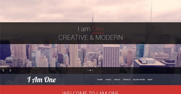 Шаблон Wordpress - I Am One