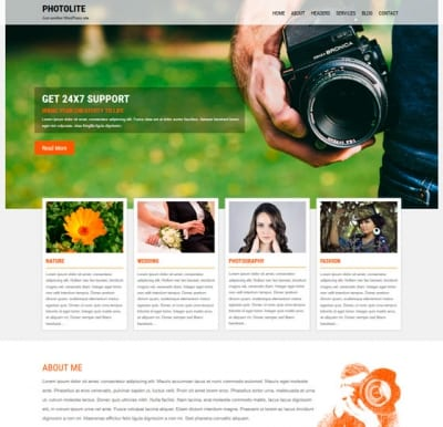 Шаблон WordPress - Photolite