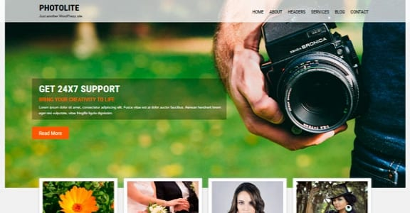 Шаблон Wordpress - Photolite