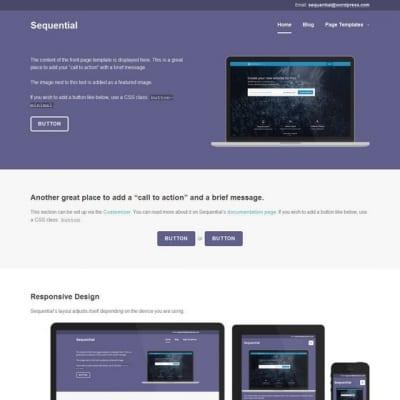 Шаблон WordPress - Sequential