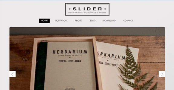 Шаблон Wordpress - Slider Responsive