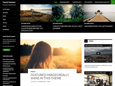 Шаблон WordPress - Twenty Fourteen