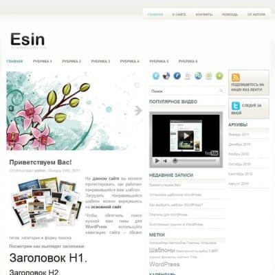 Шаблон WordPress - Esin