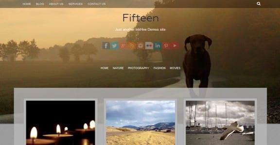Шаблон Wordpress - Fifteen