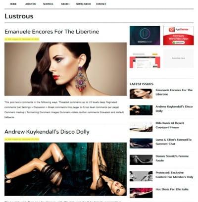 Шаблон WordPress - Lustrous