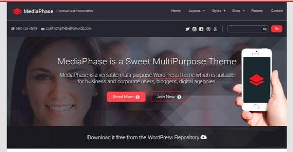Шаблон Wordpress - Mediaphase